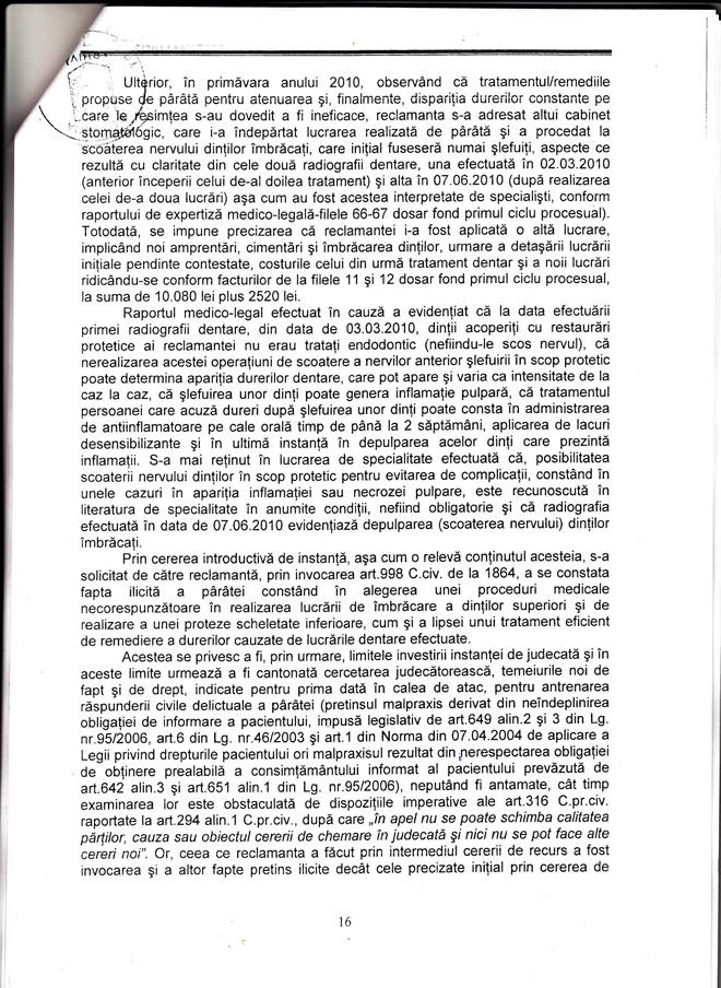 Decizia nr. 111/2015, definitivă, pronunţată în recurs de Tribunalul Timiş, Secţia civilă