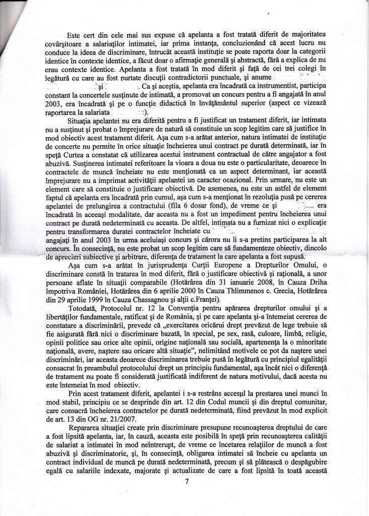 Curtea de Apel București, Secția a VII-a, Decizia nr. 3818/2016